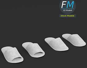 Disposable slippers 3D