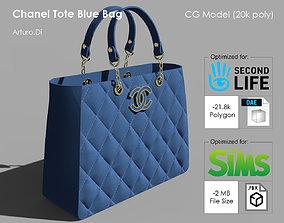 3D model Chanel Tote Blue Bag