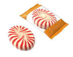 3D model Blank package with caramel mock up