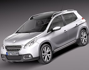 3D model Peugeot 2008 - 2014