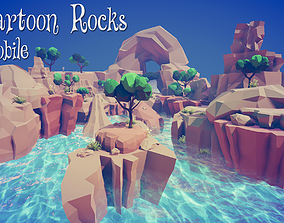 3D model Cartoon Rocks - Mobile