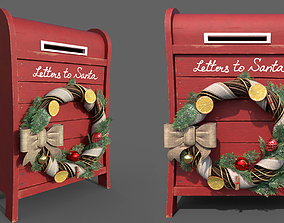 3D model mailbox for santa mail