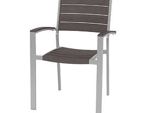 Ratana New Mirage Stacking Arm Chair Durawood 3D model