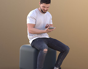 Rick 10718 - Sitting Casual Guy 3D model