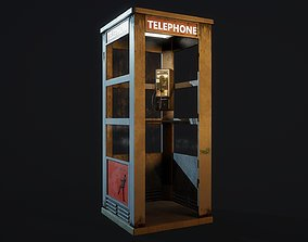 3D asset US Phone Booth