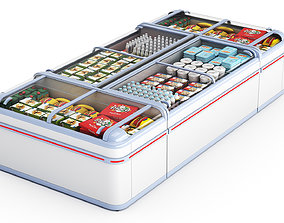3D Refrigerated Display Cases