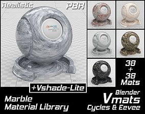 VMATS Marble Material Library for Blender 3D model 2
