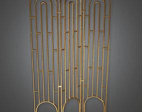 3D model DKO - Room Divider 01 Art Deco -PBR Game Ready