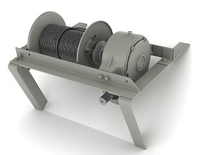 3D model Mechanical winch