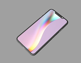 iphone XI Max Silver 3D print model
