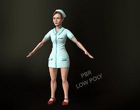 3D asset game-ready nurse