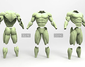 3D printable model Batman muscle body for Muscle Suit