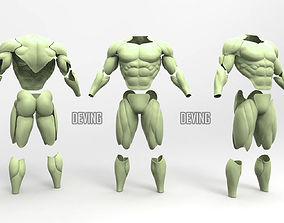 3D printable model Batman muscle body for Muscle Suit