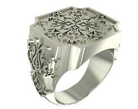 3D print model Cube style signet ring