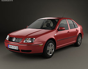 Volkswagen Jetta Sedan 2003 saloon 3D model