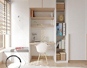 3D model Bedroom With Study - Leptos