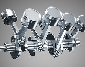 auto-engine 3D Animated V8 Engine