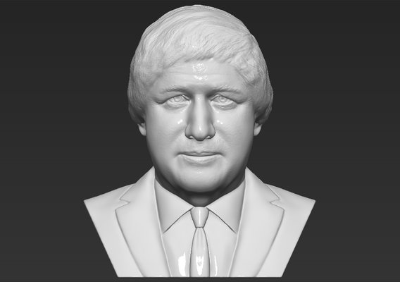 Boris Johnson bust for 3D printing