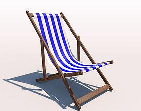 3D Deck Chair - Blue