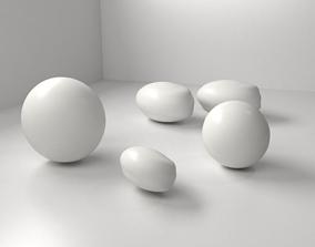 White Chocolate Drop 3D model