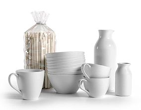 3D model pitcher Bag of Pasta Mugs Bowls and Pitchers