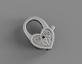 3D printable model Heart lock for golden chains
