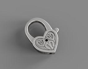 Heart lock for golden chains 3D printable model