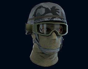 Military head 3D model