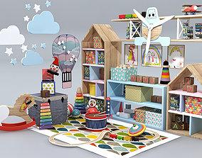 Children Room Furniture Set 3D interior