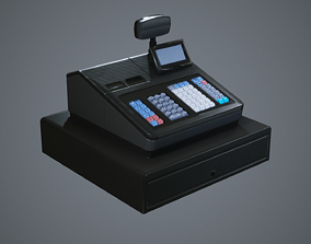 Modern Cash Register 3D asset