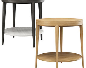 3D model Trestle Round Side Table by HBF studio