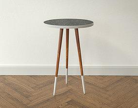 3D model game-ready Design Side Table Mina