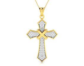Holy cross pendant 3dm render detail pendant-necklace