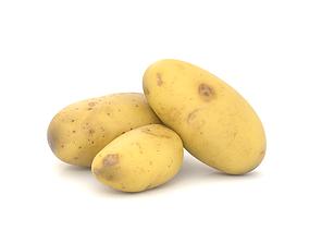 Potato Photoscan 3D asset low-poly