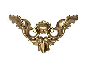 decorative pattern ready for 3D printing metallic