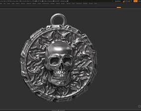 Skull Pendant 3d print model silver