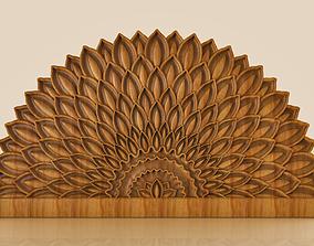 3D printable model BED HEADBOARD - FLOWER PETALS