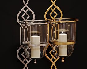 3D Wall sconce Grand Fret Hurricane Silver and Gold