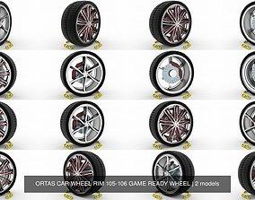 ORTAS CAR WHEEL RIM 105-106 GAME READY WHEEL 3D model