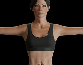 Female Commando 3D asset