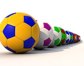 Soccer balls - Football pack 3D models game-ready