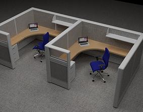 Office Workspace 3D