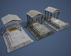 Refined Tombstone 3D asset