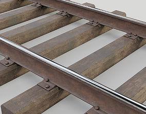 Railway track 3D asset