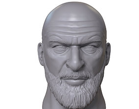 Triple H 3D printable portrait sculpture