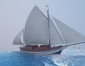 Sailing vessel - Spray 3D model realtime