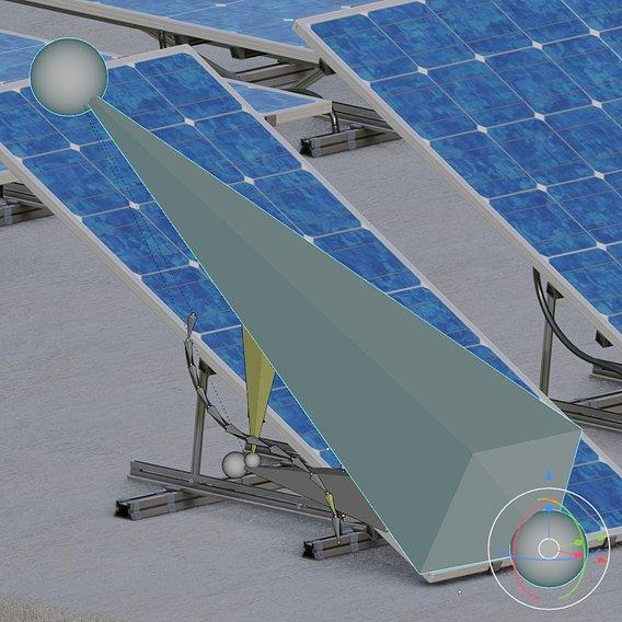 Rigged Solar Panels - Blender-2.93