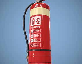 Fire Extinguisher 3D model low-poly PBR