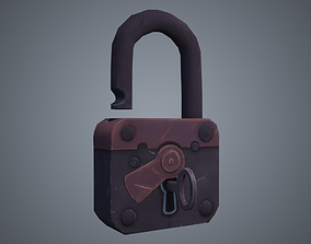 realtime Padlock Low-poly 3D model