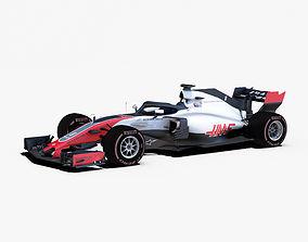 3D asset Haas VF18 car